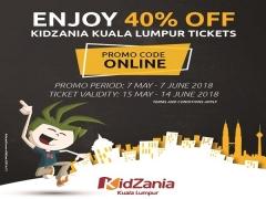 Online Special Promo in KidZania Kuala Lumpur with up to 40% Savings