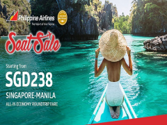 Summer Seat Sale to Manila with Philippine Airlines from SGD238