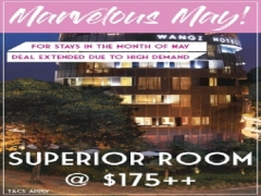 Marvelous May Offer in Wang Hotel with Room from SGD175