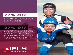 Up to 37% Off Flight Package in iFly Singapore