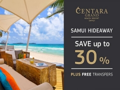 Enjoy up to 30% Savings on your Samui Hideaway with Centara Hotel