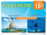 Fly and Explore Combo Ticket with One Faber Group Attraction at 15% Off