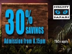 Local Residents Exclusive: Enjoy 30% Savings on Night Safari Admission from 8.15pm this June!