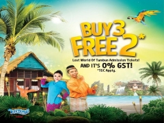 Buy 3 Free 2* Admission Ticket to Sunway Lost World of Tambun
