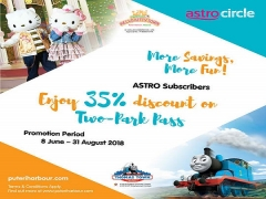 35% Off on Two-Park Pass in Puteri Harbour for Astro Subscribers