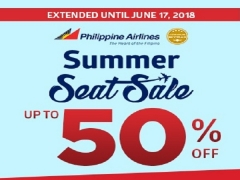 EXTENDED | Summer Seat Sale with Up to 50% Off Flight Fares in Philippine Airlines