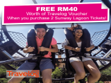 2 Admission Tickets + Travelog Vouchers from RM340 in Sunway Lagoon