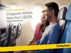 Explore Up to 30 Destinations with Singapore Airlines and Maybank