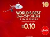 Base Fare Starts from SGD 0.10 in AirAsia