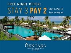 Free Night Offer in Centara Ceysands Resort & Spa Sri Lanka