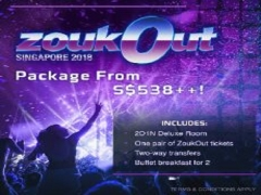 ZoukOut Package 2018 from $538++ with Bay Hotel Singapore