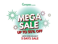 5 Day Mega Sale with Up to 50% Savings in Selected Hotels with Compass Hospitality