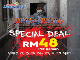Nights of Fright 6 Special Offer from RM48 in Sunway Lagoon