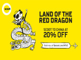 Scoot to China at 20% Off with NTUC Card