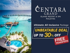 Save up to 30% on the Ultimate Holiday with Centara Hotels & Properties