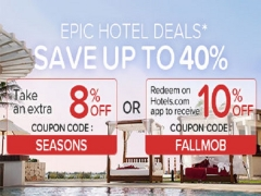 Epic Deals in Hotels.com with Up to 40% Savings