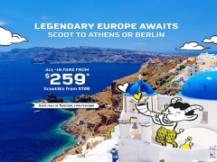 Scoot to Athens or Berlin from SGD259