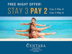 Complimentary Night from Centara Grand Island Resort & Spa Maldives