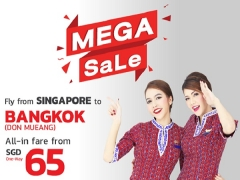 Travel to Thailand from SGD65, with baggage allowance 20 kg included without booking fee.
