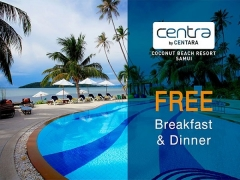 Half Board Upgrade with Complimentary Breakfast & Dinner at Centra by Centara Coconut Beach Resort Samui