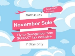 7 Day November Sale in China Southern Airlines from SGD227