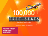 100,000 FREE Seats on Sale in Jetstar this November