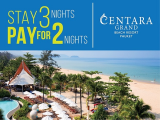 Stay 3 Nights Pay for Only 2 Nights at Centara Grand Beach Resort Phuket