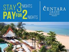 Stay 3 Nights Pay for Only 2 Nights at Centara Grand Beach Resort Phuket