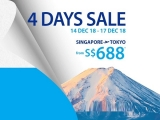 4 Days Sale - Fly to Japan with All Nippon Airways from SGD688