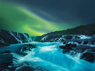 Scenic Iceland and the Northern Lights