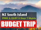 FREE & EASY 8 Days 7 Nights South Island Road Trip (Self-drive)