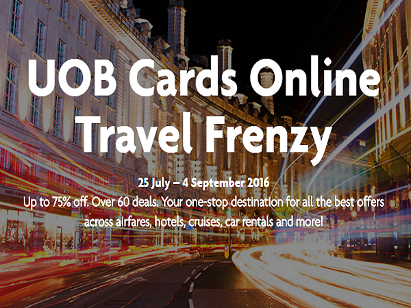 UOB Cards Online Travel Frenzy