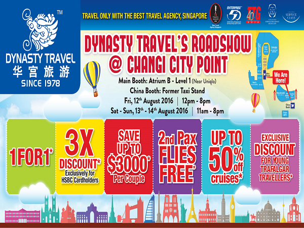 Dynasty's Travel Roadshow @ Changi City Point