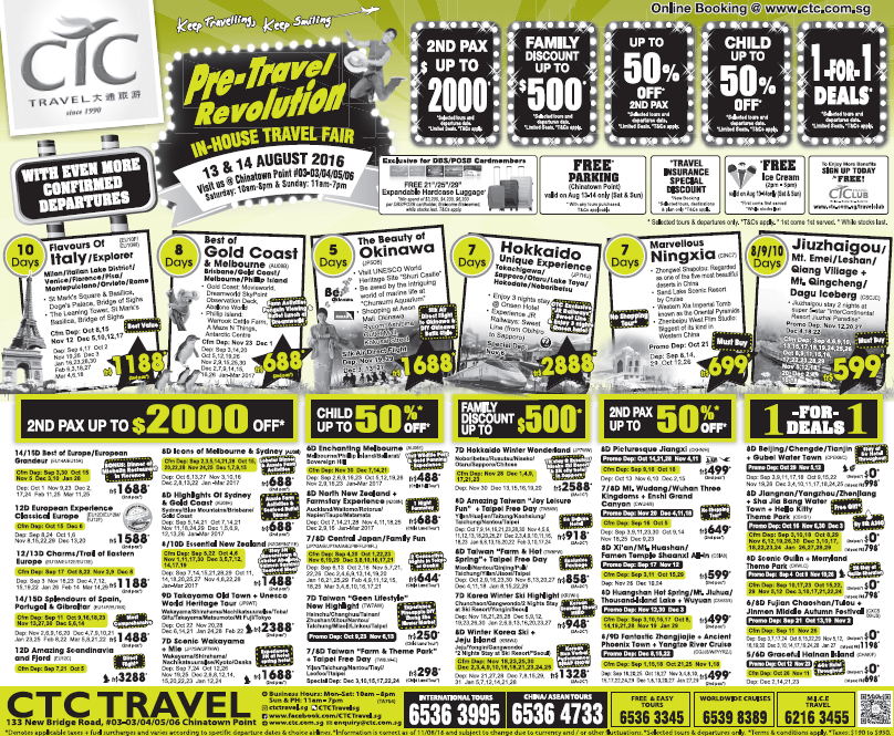 CTC Pre-Travel Revolution