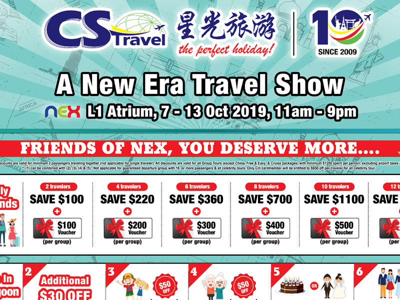 CS Travel Travel In New Era at Serangoon Nex