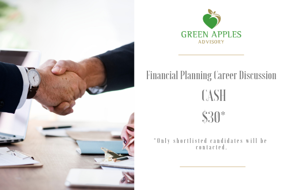 Financial Planning Career Discussion ($30 cash for selected interviewees*)