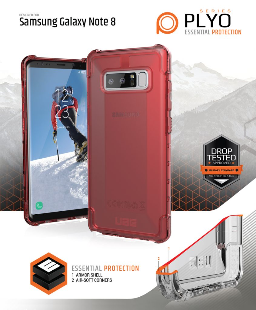Op lung Samsung Galaxy Note 8 UAG Plyo CRIMESON note 8 plyo bengovn