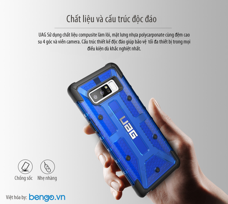 Op lung UAG Samsung Galaxy Note 8 vat lieu compusite Plasma bengovn