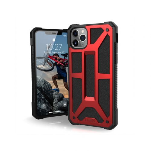 Op lung iPhone 11 Pro Max UAG Monarch Series Crimson 01 bengovn