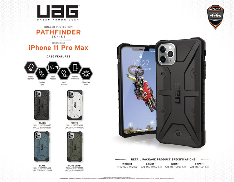 Op lung iPhone 11 Pro Max UAG
