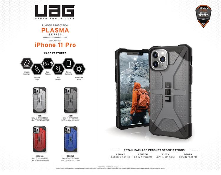Op lung iPhone 11 Pro Max UAG Plasma Series Magma 12 bengovn1