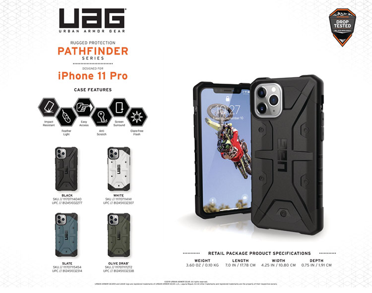 Op lung iPhone 11 Pro Max UAG Pathfinder Series White 11 bengovn