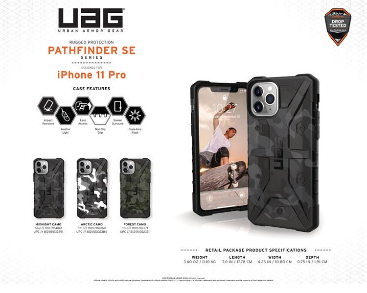 Op lung iPhone 11 Pro Max UAG Pathfinder SE Camo MIDNIGHT 11 bengovn