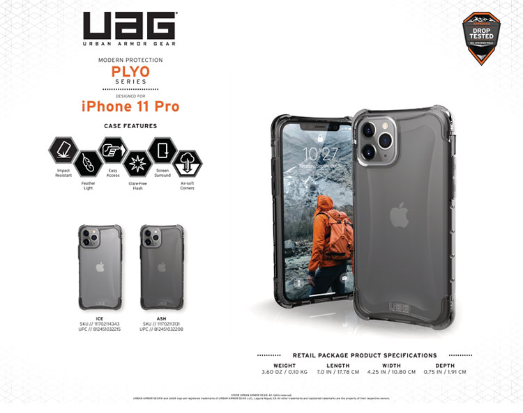 Op lung iPhone 11 Pro Max UAG Plyo Series Ice 10 bengovn1