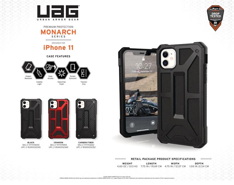 Op lung iPhone 11 UAG Monarch Series CRIMSON 12 bengovn