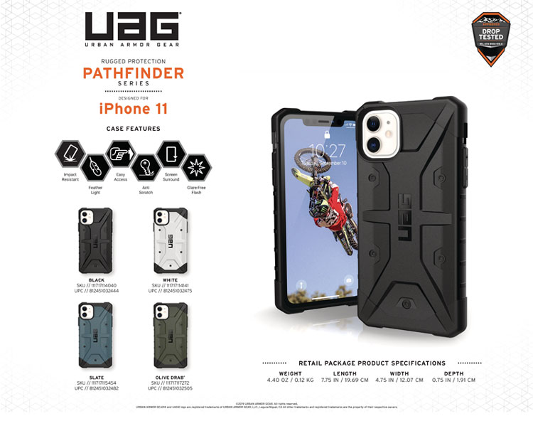 Op lung iPhone 11 UAG Pathfinder Series WHITE 11 bengovn