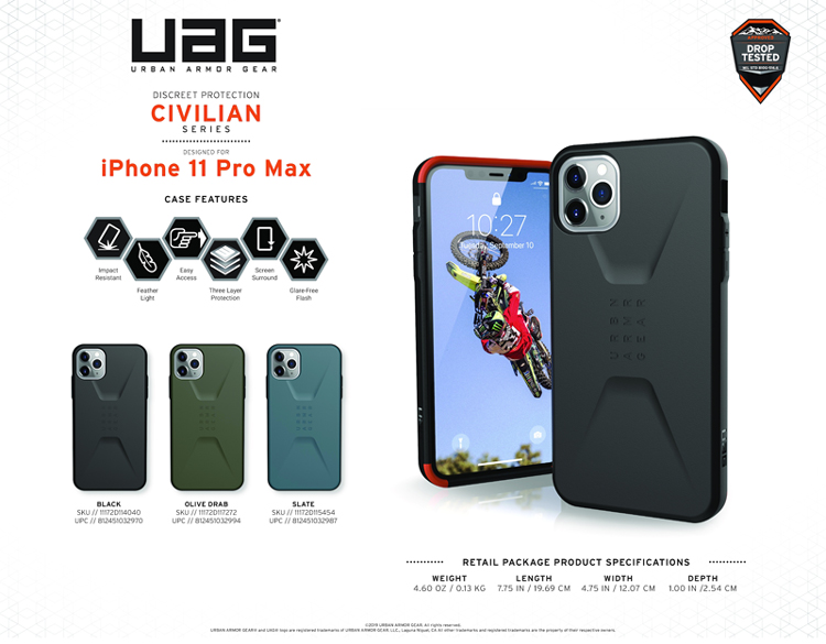 Op lung iPhone 11 Pro Max UAG Civilian Series 01 bengovn