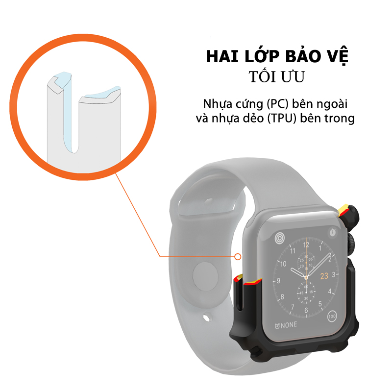 Op Apple Watch Series 4 5 UAG WATCH CASE 44mm 16 bengovn