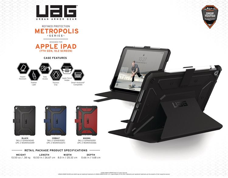 Bao da iPad 10 2 inch 2019 UAG Metropolis Series 01 bengovn