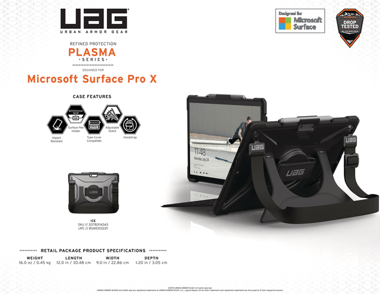 Op lung Microsoft Surface Pro X UAG Plasma co day deo vai va tay 09 bengovn